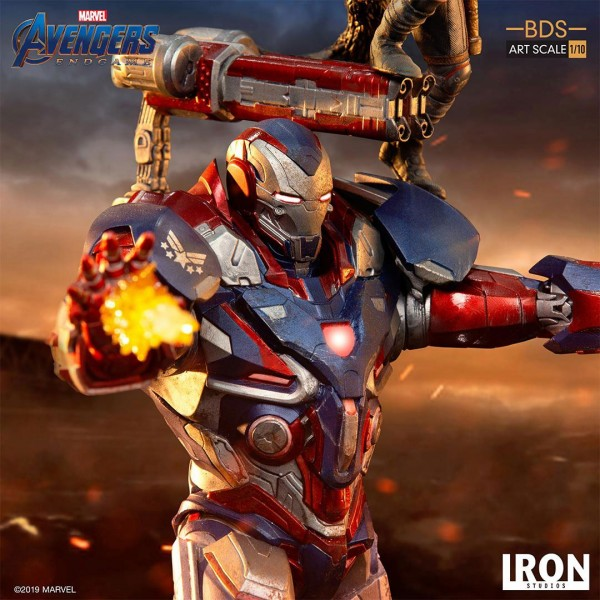 Avengers Endgame BDS Art Scale Statue 1/10 Iron Patriot & Rocket