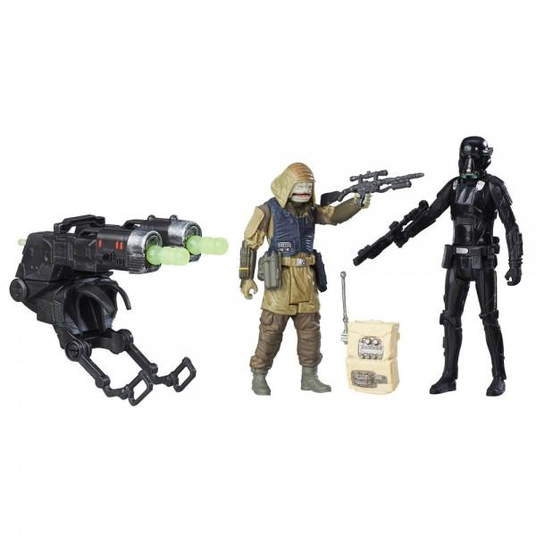 Star Wars Rogue One Actionfiguren 10 cm 2-Pack Rebel Commando Pao vs. Imperial Death Trooper
