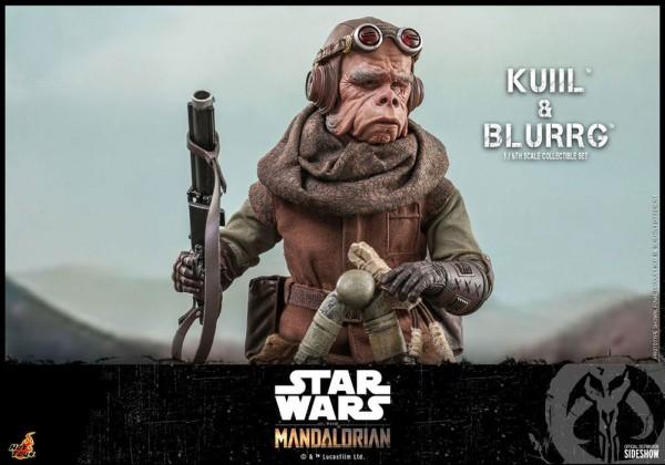 Star Wars The Mandalorian Television Masterpiece Actionfiguren 1/6 Kuiil & Blurrg (2-Pack)