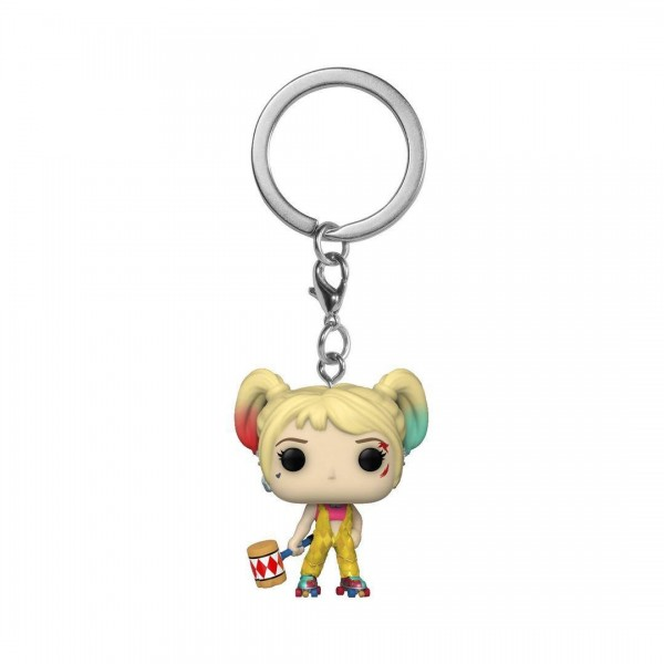 Birds of Prey Pop! Pocket Keychain Vinylfigur Harley Quinn (Boobytrap Battle)