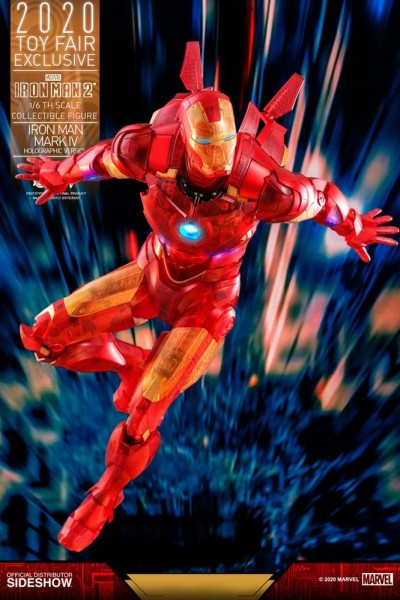 Iron Man 2 Movie Masterpiece Actionfigur 1/6 Iron Man Mark IV (Holographic Version) Exclusive