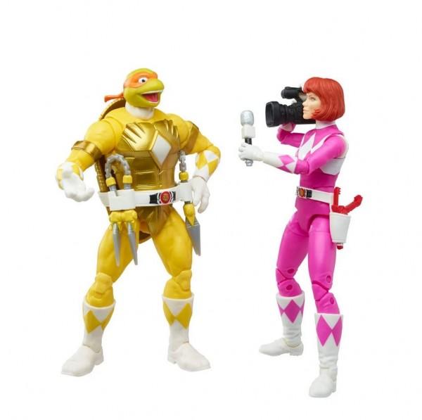 Power Rangers x Turtles Lightning Collection Actionfiguren 15 cm Morphed April O'Neil & Michelangelo
