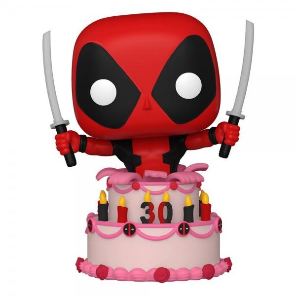 Deadpool 30th Anniversary Funko Pop! Vinylfigur Deadpool in Cake