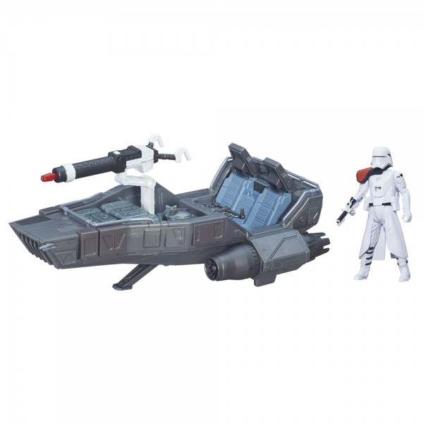 Star Wars Fahrzeug Class II Episode VII First Order Snowspeeder mit Snowtrooper Officer