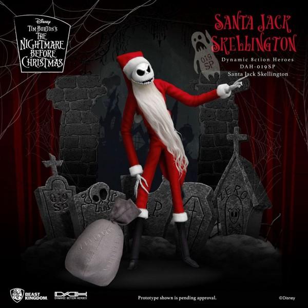 Nightmare before Christmas Dynamic 8ction Heroes Actionfigur Santa Jack Skellington