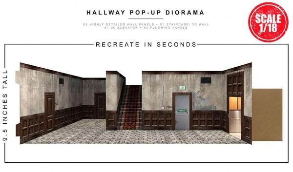 Extreme Sets Pop-Up Diorama Hallway Set 1/18