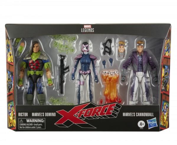 X-Force Marvel Legends Actionfiguren Rictor, Domino & Cannonball (3-Pack) Exclusive