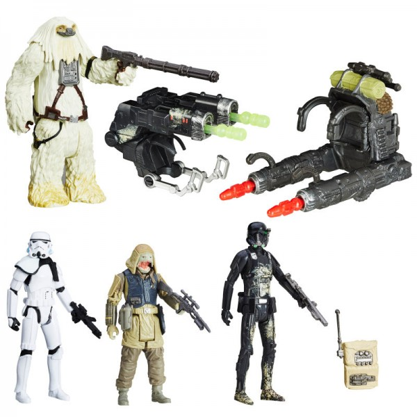 Star Wars Rogue One Actionfiguren 10 cm 4-Pack Rebels Pao & Moroff vs. Death Trooper & Stormtrooper