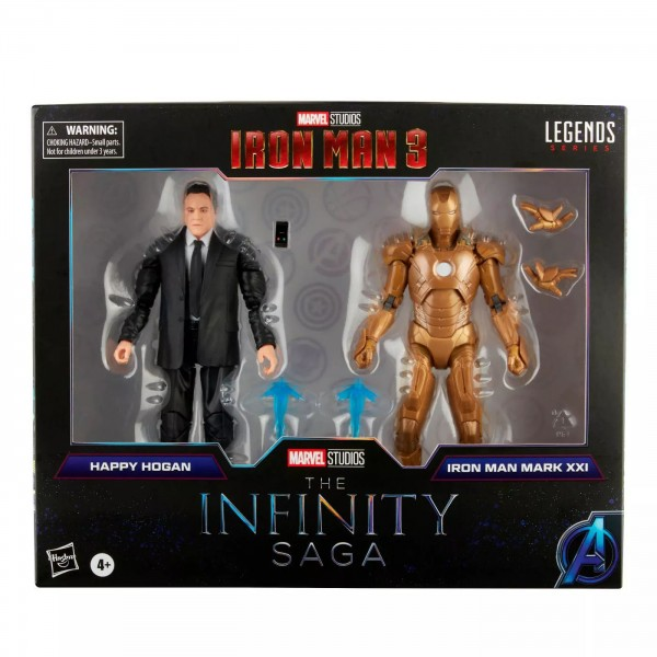 Iron Man 3 Marvel Legends Actionfiguren Happy Hogan & Iron Man Mark XXI (Infinity Saga) Exclusive