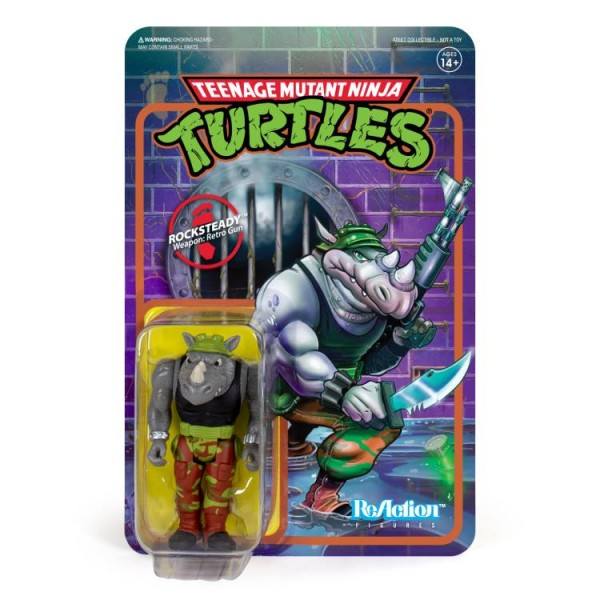 Teenage Mutant Ninja Turtles ReAction Actionfigur Rocksteady