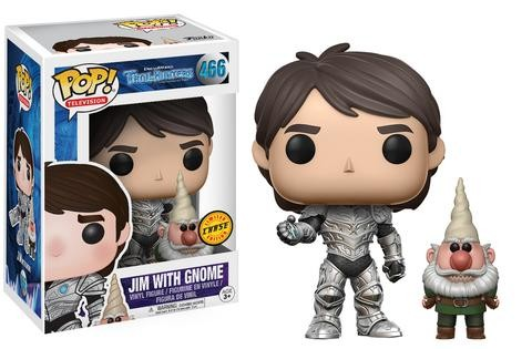 Trollhunters Funko Pop! Vinylfigur Armored Jim with Gnome 466 (Chase)