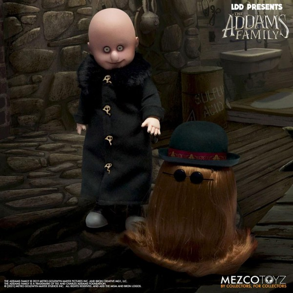 The Addams Family Living Dead Dolls Puppen Fester & It (2-Pack)