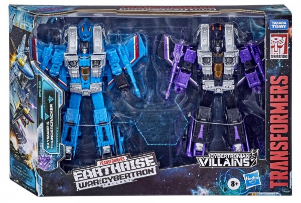 Transformers Generations War For Cybertron EARTHRISE Voyager Skywarp & Thundercracker (2-Pack)