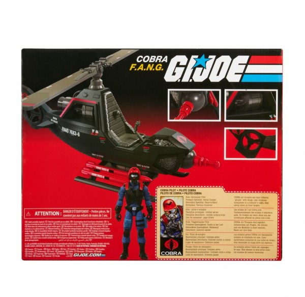 G.I. Joe Retro Collection Fahrzeug Cobra F.A.N.G. & Cobra Pilot (Exclusive)