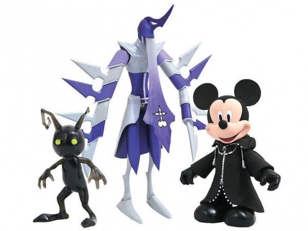 Kingdom Hearts Select Actionfiguren Black Coat Mickey Mouse, Shadow Assassin & Shadow 3-Pack