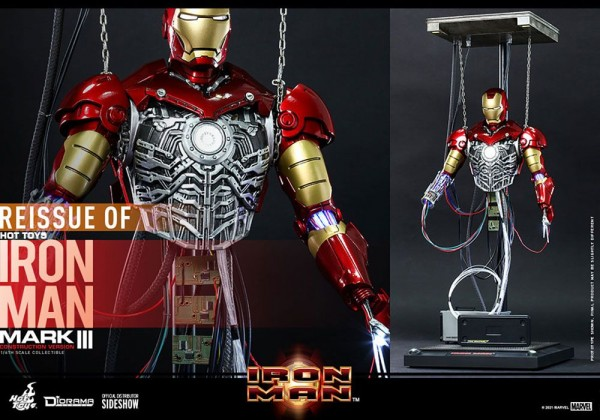 Iron Man Movie Masterpiece Actionfigur 1/6 Iron Man Mark III (Construction Version)