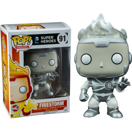DC Funko Pop! Vinylfigur Firestorm (White Lantern) 91 Exclusive