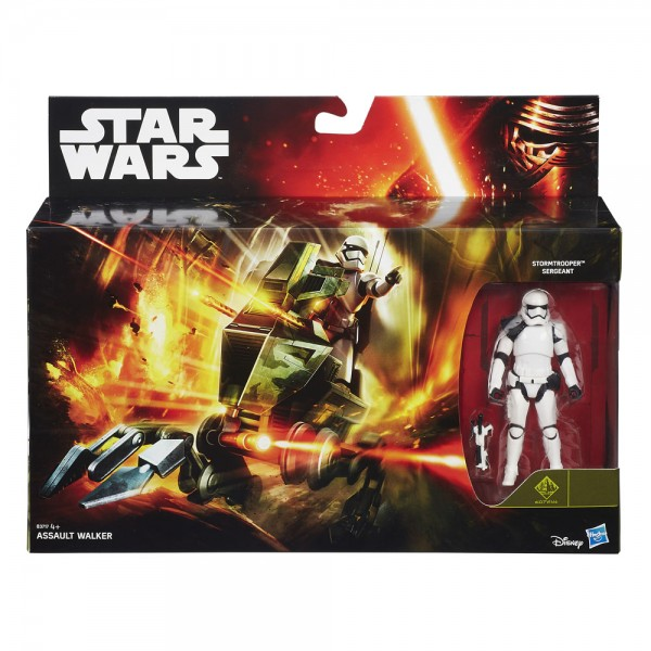 Star Wars Fahrzeug Class I Episode VII Assault Walker mit Stormtrooper Sergeant