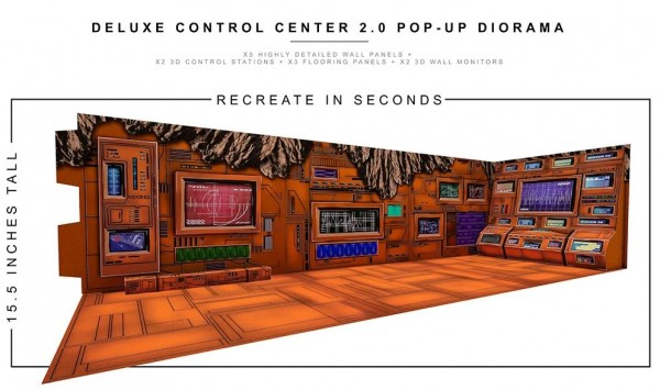 Extreme Sets Pop-Up Diorama Deluxe Control Center 2.0 Set 1/12