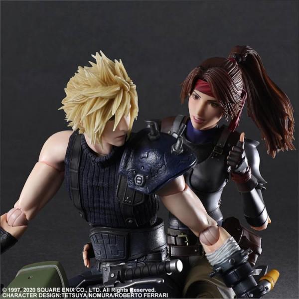 Final Fantasy VII Remake Play Arts Kai Actionfiguren-Set Jessie & Cloud & Motorcycle