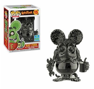 Rat Fink Funko Pop! Vinylfigur Rat Fink (Grey Chrome) 15 (SDCC 2019)
