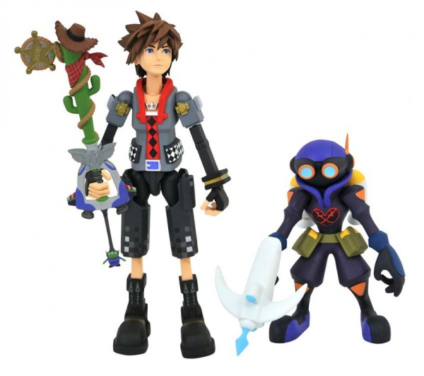 Kingdom Hearts 3 Select Actionfiguren Toy Story Sora & Air Soldier with Favorite Deputy Keyblade (2-