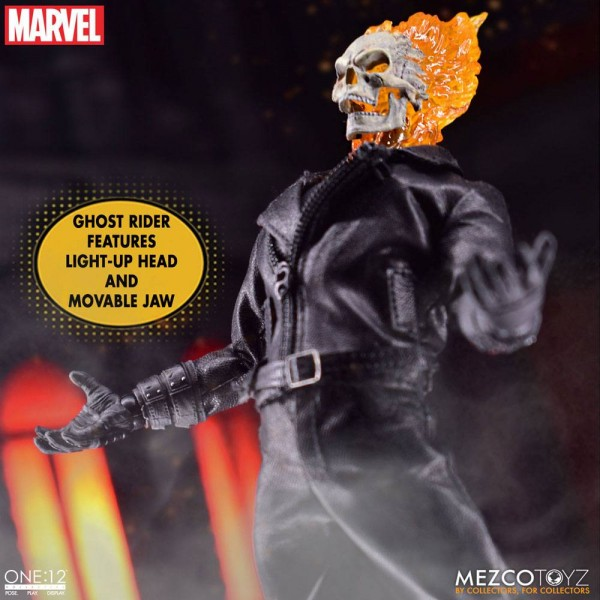 Marvel ´The One:12 Collective´ Actionfiguren-Set 1/12 Ghost Rider & Hell Cycle