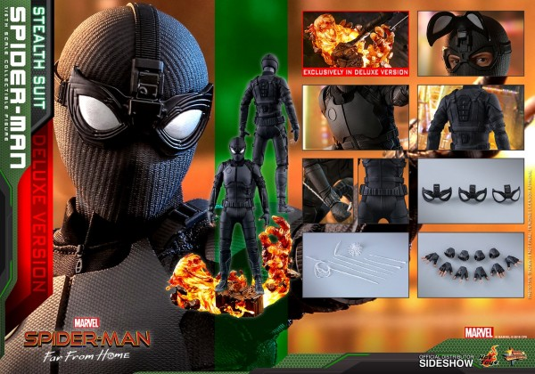 Spider-Man Far From Home Movie Masterpiece Actionfigur 1/6 Spider-Man (Stealth Suit) Deluxe Version