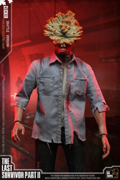 CC Toys The Last Survivor Part II Actionfigur 1/6 Clicker (Seattle Version)