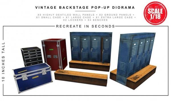 Extreme Sets Pop-Up Diorama Vintage Backstage Set 1/18