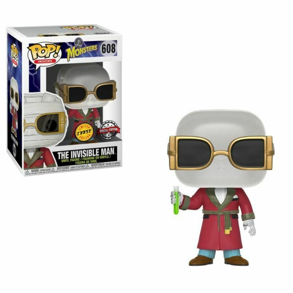 Universal Monsters Funko Pop! Vinylfigur Invisible Man 608 Exclusive (Chase)