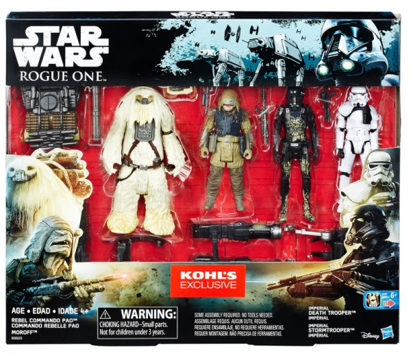 Star Wars Rogue One Actionfiguren 10 cm 4-Pack Rebels Pao & Moroff vs. Death Trooper & Stormtrooper