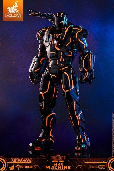 Iron Man 2 Movie Masterpiece Diecast Actionfigur 1/6 Neon Tech War Machine (Exclusive)