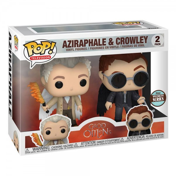 Good Omens Funko Pop! Vinylfiguren Aziraphel & Crowley (with Wings) Specialty Series (2-Pack)