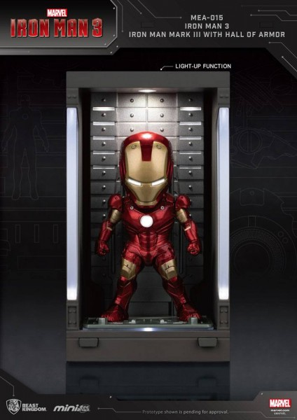 Iron Man 3 'Mini Egg Attack Action' Figur Hall of Armor Iron Man Mark III