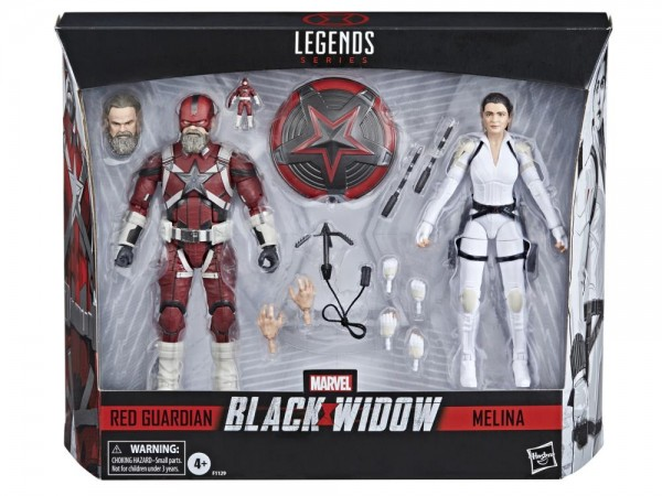 Black Widow Movie Marvel Legends Actionfiguren Red Guardian & Melina Vostkoff (2-Pack)