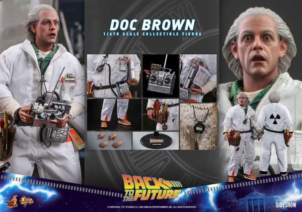 Zurück in die Zukunft Movie Masterpiece Actionfigur 1/6 Doc Brown (Deluxe Version)