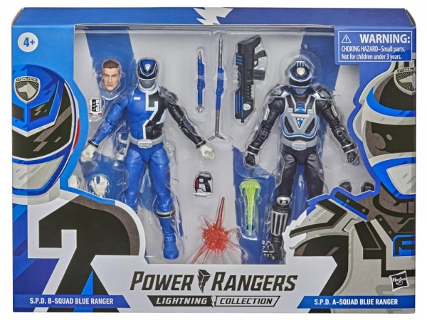 Power Rangers Lightning Collection Actionfiguren 15 cm S.P.D. B-Squad Blue Ranger & S.P.D. A-Squad B
