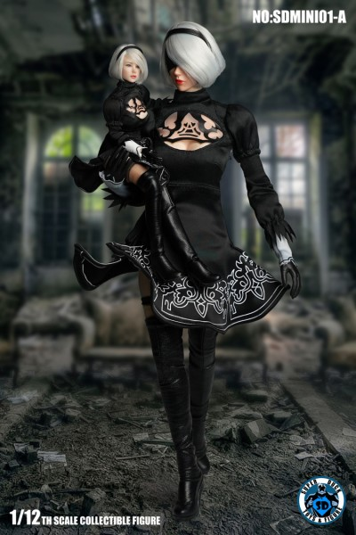 SUPER DUCK 1/12 Sexy Robot Kopf & Kostüm (Black)