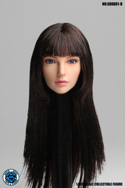 SUPER DUCK 1/6 Girl Brown Hair Head (Eyeball Rolling System)