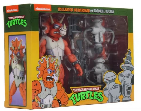 Teenage Mutant Ninja Turtles Actionfiguren Cartoon Triceraton Infantryman & Roadkill Rodney (3-Pack)