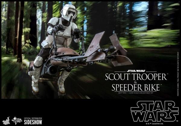 Star Wars Movie Masterpiece Actionfiguren-Set 1/6 Scout Trooper & Speeder Bike (Episode VI)
