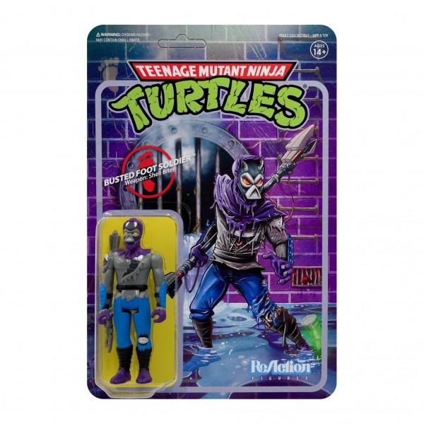 Teenage Mutant Ninja Turtles ReAction Actionfigur Damaged Foot Soldier