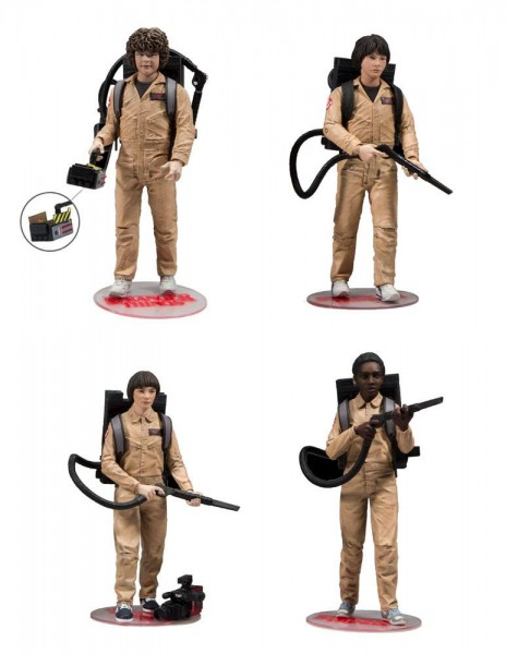 Stranger Things Actionfiguren Ghostbusters Mike, Will, Dustin & Lucas (4-Pack)