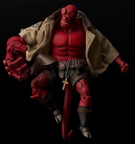 Hellboy Comic Actionfigur 1/12 Hellboy (mit BPRD Shirt) Previews Exclusive