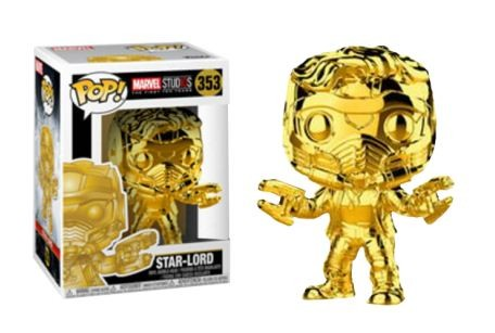 Marvel Studio's 10th Anniversary Funko Pop! Vinylfigur Star-Lord (Gold Chrome) 353 Exclusive