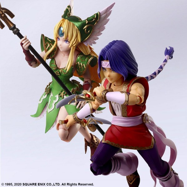 Trials of Mana Bring Arts Actionfiguren Hawkeye & Riesz (2-Pack)