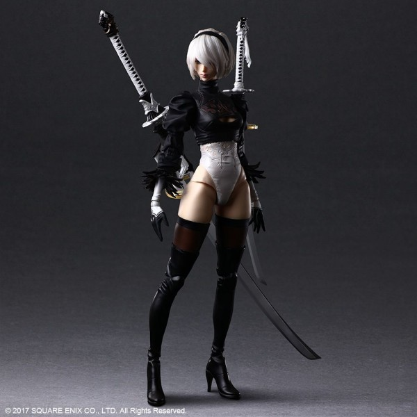 NieR Automata Play Arts Kai Actionfigur 2B (YoRHa No.2 Type B) Deluxe Version