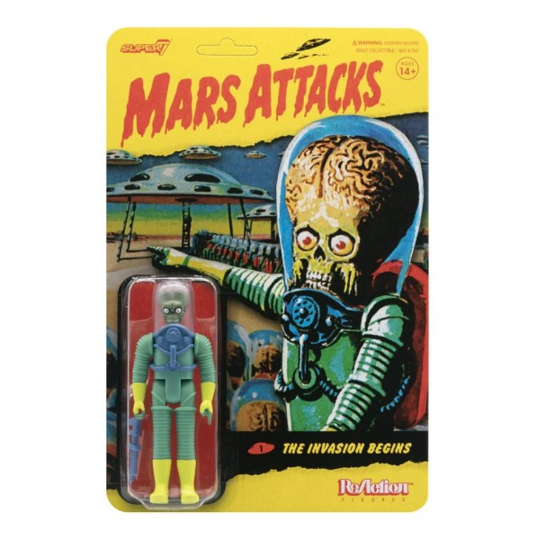 Mars Attacks! ReAction Actionfigur Alien 1 with Gun