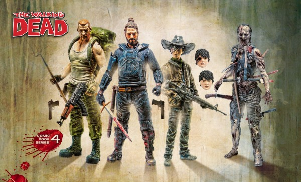 Walking Dead Actionfiguren-Set Comic Serie 4